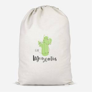 Merry Cactus Cotton Storage Bag