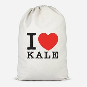 I Heart Kale Cotton Storage Bag