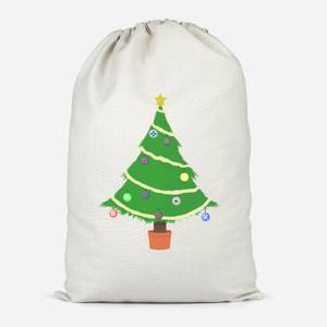 Buttons Tree Cotton Storage Bag