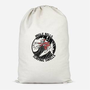 Jungle Bells, Surfing Swells Cotton Storage Bag