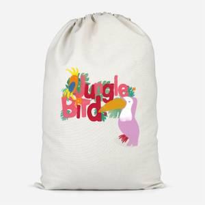 Jungle Bird Cotton Storage Bag