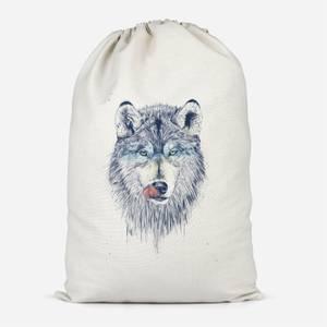 Wolf Eyes Cotton Storage Bag