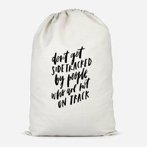 Don't Get Sidetracked Cotton Storage Bag
