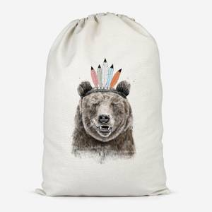 Native Bear Cotton Storage Bag