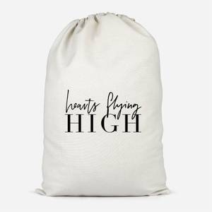 Hearts Flying High Cotton Storage Bag