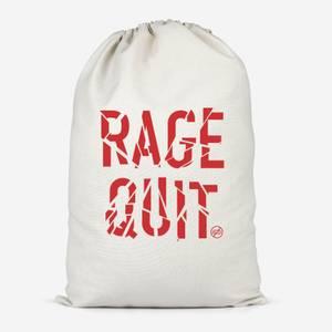 Rage Quit Cotton Storage Bag
