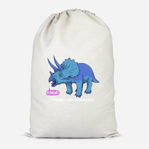 Rawr It Means I Love You In Dinosaur Cotton Storage Bag