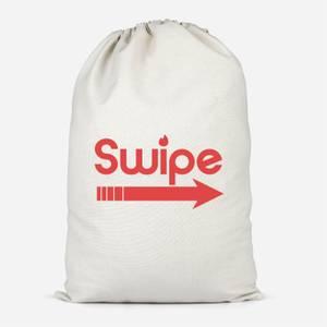 Swipe Right Cotton Storage Bag