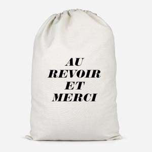 Au Revoir Et Merci Cotton Storage Bag