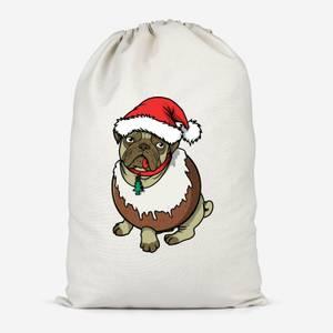 Christmas Puggin Cotton Storage Bag