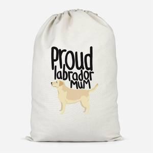 Proud Labrador Mum Cotton Storage Bag