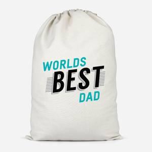 Worlds Best Dad Cotton Storage Bag