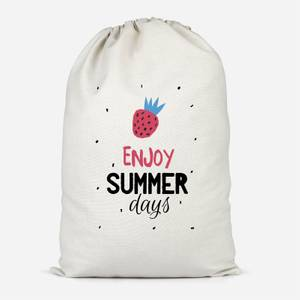 Enjoy Summer Days Cotton Storage Bag