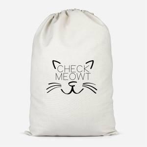 Check Meowt Cotton Storage Bag