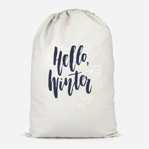 Hello Winter Cotton Storage Bag