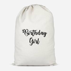 Birthday Girl Cotton Storage Bag