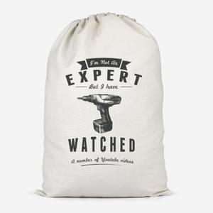Im Not An Expert Cotton Storage Bag