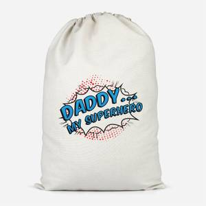Daddy My Superhero Cotton Storage Bag