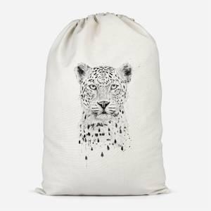 Leopard Cotton Storage Bag