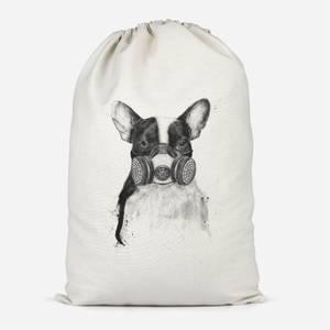 Masked Bulldog Cotton Storage Bag