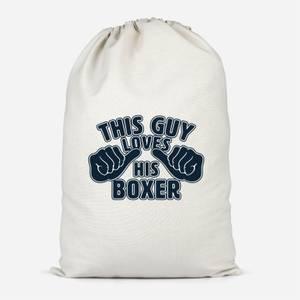 This Guy Loves His Boxer Cotton Storage Bag