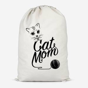 Cat Mom Cotton Storage Bag