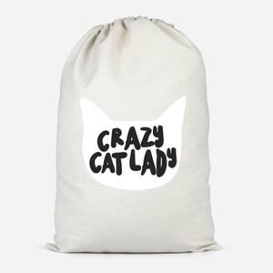 Crazy Cat Lady Cotton Storage Bag