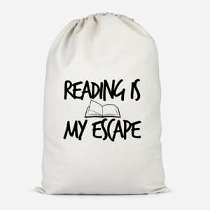 Reading Is My Escape Cotton Storage Bag