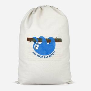 Eat Sleep Eat Repeat Cotton Storage Bag