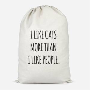 I Like Cats More Than People Cotton Storage Bag