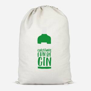Let The Christmas Fun Be Gin Cotton Storage Bag