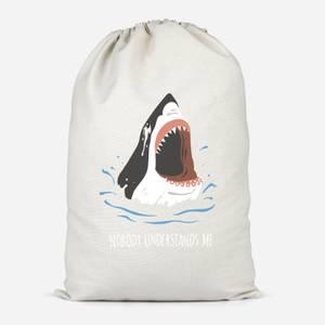 Sharks Nobody Understands Me Cotton Storage Bag