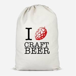 I Hop Craft Beer Cotton Storage Bag