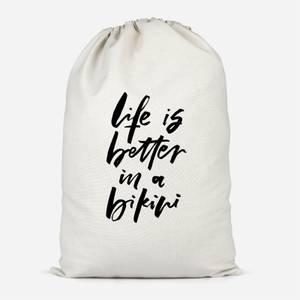 Life Is Better In A Bikini Cotton Storage Bag