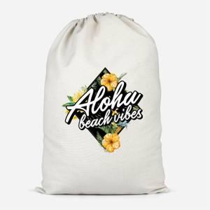 Aloha Beach Vibes Cotton Storage Bag