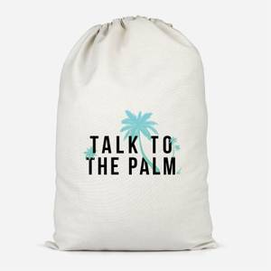 Talk To The Palm Cotton Storage Bag
