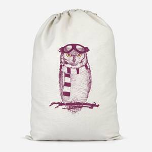 Winter Owl Cotton Storage Bag