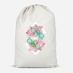 Flowers Cotton Storage Bag