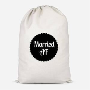 Married AF Cotton Storage Bag