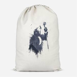 Singing Wolf Cotton Storage Bag