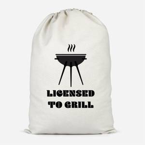 Licensed To Grill Cotton Storage Bag