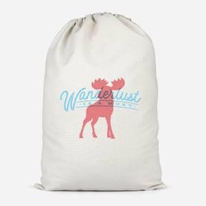 Wanderlust Is A Must Cotton Storage Bag