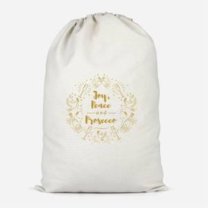 Joy, Peace And Prosecco Cotton Storage Bag