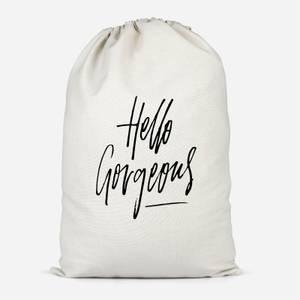Hello Gorgeous Cotton Storage Bag