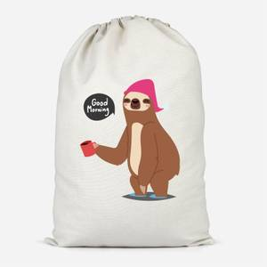 Sloth Good Morning Cotton Storage Bag