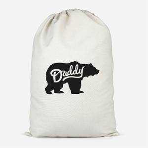Daddy Bear Cotton Storage Bag