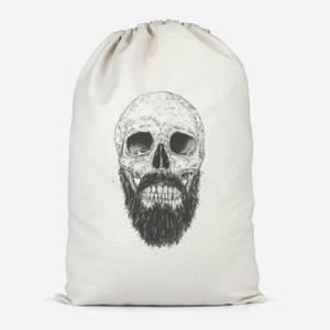 Bearded Skull Cotton Storage Bag