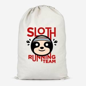 Sloth Running Team Cotton Storage Bag