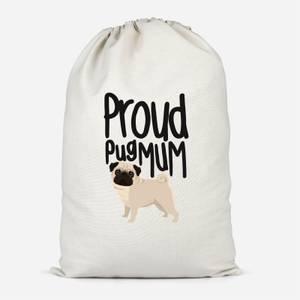 Proud Pug Mum Cotton Storage Bag