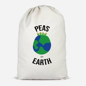 Peas On Earth Cotton Storage Bag